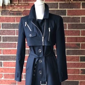 MICHEAL Micheal Kor's Navy Trench Coat
